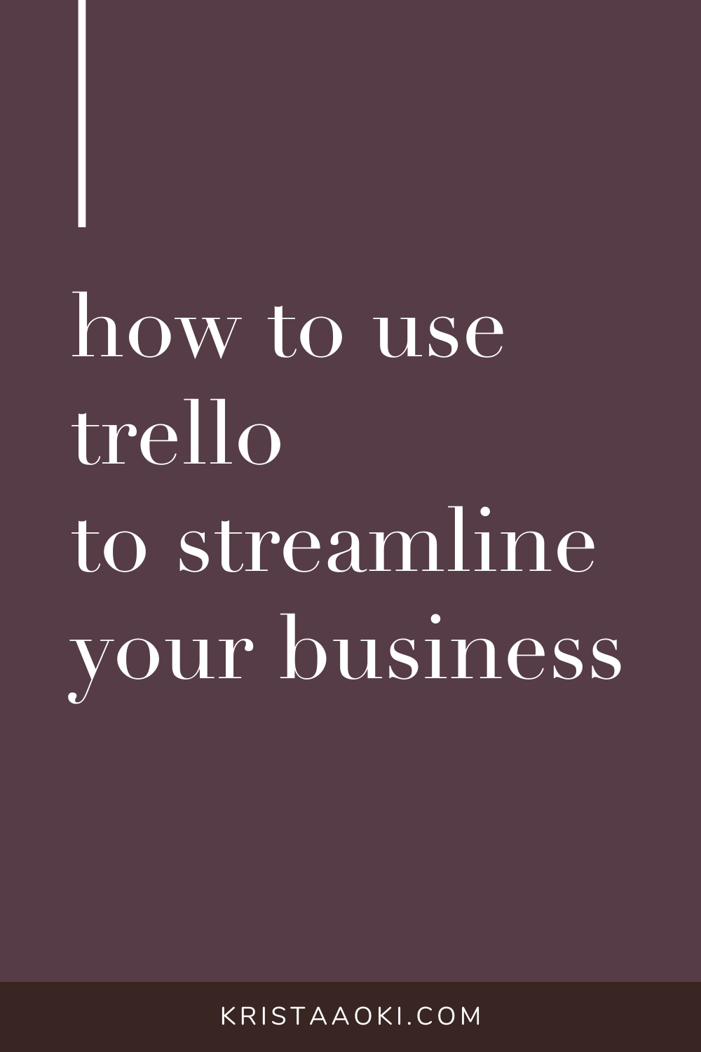 If you love getting organized, you'll love these tips on how to use Trello project management to streamline your online business. Plan your blog posts, manage your content & publishing calendar...and never miss a beat with your ideas or your to-do list. productivity tips, planning, small business organization, small biz, freelancer, freelance tips, work from home | Krista Aoki at KristaAoki.com
